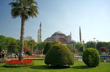 Cityscape with Ayasopya Mosque (Hagia Sophia) (Istanbul, Turkey)