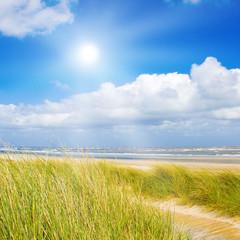 Fototapete - Ein idyllischer Tag im Sommer an der Nordsee