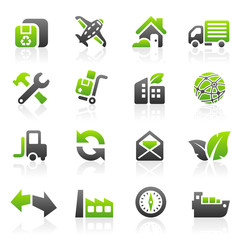 Green shipping icons