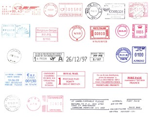 postmarks from different nations