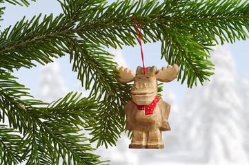 Weihnachtsbaumschmuck Holzelch