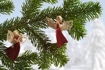 Weihnachtsbaumschmuck Strohengel