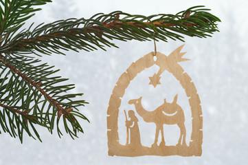 Weihnachtsbaumschmuck Schnitzwerk