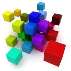 Multicolored blocks background
