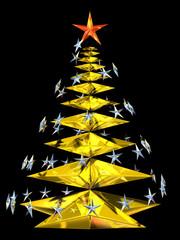 Albero di Natale di stelle
