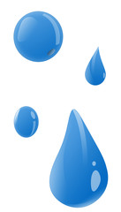Isolated Water Drop Illustration