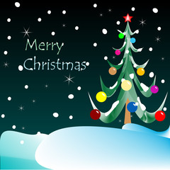 merry christmas card (night vision)