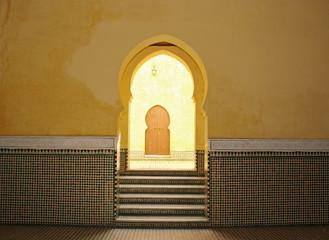 Moroccan arch entrance