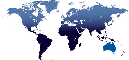 Detailed map of the world in vector format