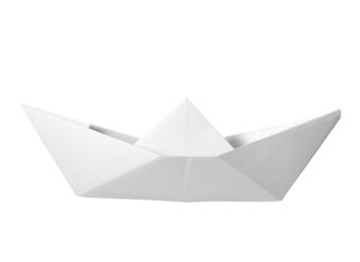 paper boat childhood float toy