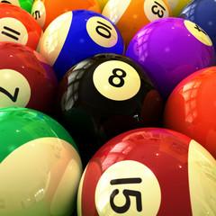 Billiards Balls Closeup
