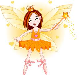 Keuken foto achterwand Magische wereld Little orange fairy