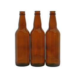 bottles for beer empty isolated