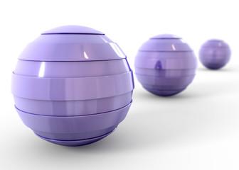 Esferas azules con desenfoque