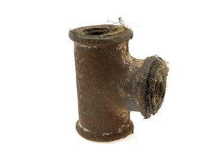 Old steel square a pipe