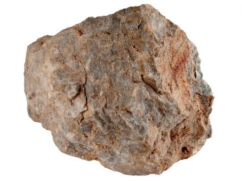 Large rock stone isolated on a white background.