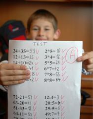 student gets A grade