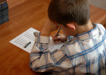 boy does the math test