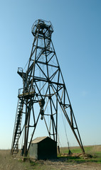 Rig in the steppe