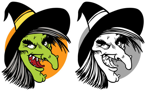 witch face collage