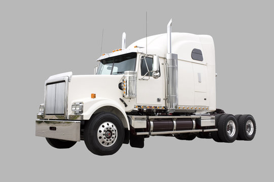 Transport truck isolated on grey