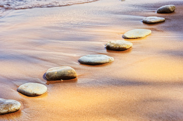 Canvas Prints Stones in Sand Stones and Sand