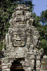 portraits sculpture in Angkor, cambodia