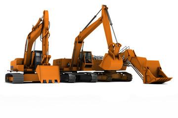 Three diggers