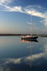 Boat on still waters
