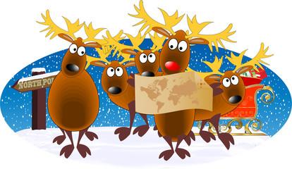 DEER CHRISTMAS B