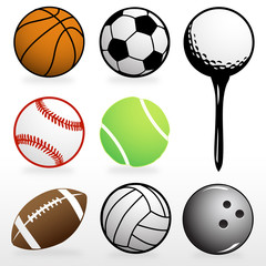 Football,Baseball,Basketball,Tennis,Bowling,Golf,and soccer