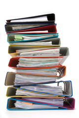 Isolated stack of folders