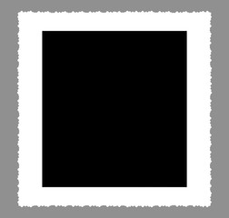 Büttenrand Rahmen weiß, freigestellt, quadratisch