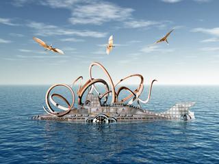 U-Boot mit Oktopus