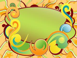 fondo abstracto con arabescos