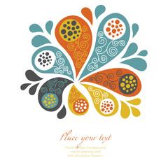 floral background, holiday design