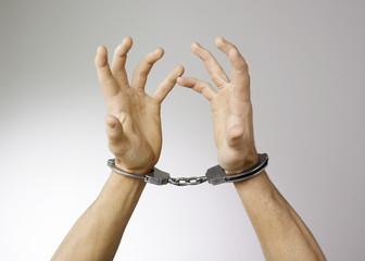 mains menottes criminalité