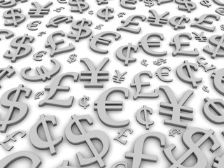 Black and white financial symbols background