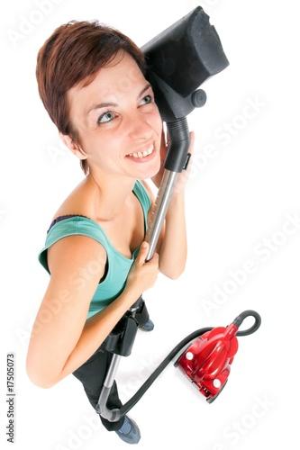 женщина с пылесосом картинки Бледная полоска