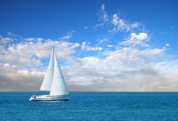 modern sail boat