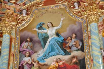 Barockes Gemälde der Himmelfahrt Mariens