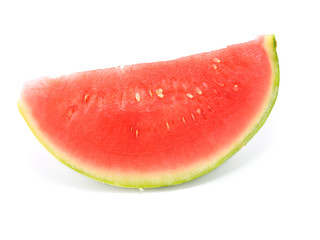 slice of water-melon on white background