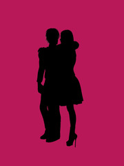 Couple Illustration Silhouette
