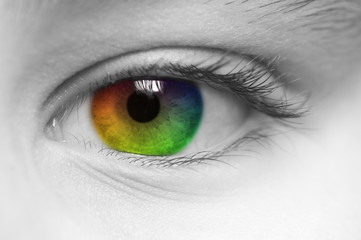 Multi coloured Childs Eye