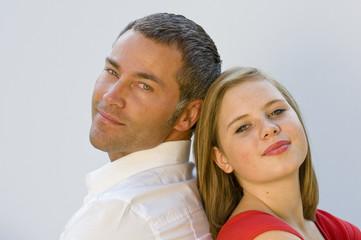 Vater und Tochter Gesicht
