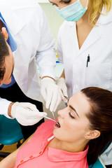 dental operation in dentist office