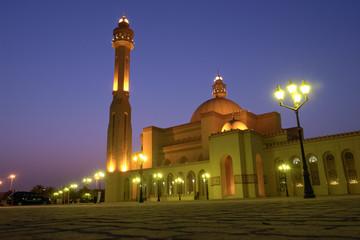 Bahrain - Al-fatah grand mosque in the night