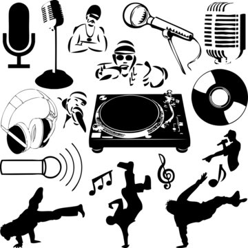 HipHop Collage (vector)