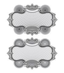 Secure design frame vector #4