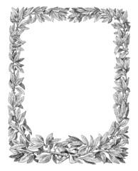 Laurel frame vector